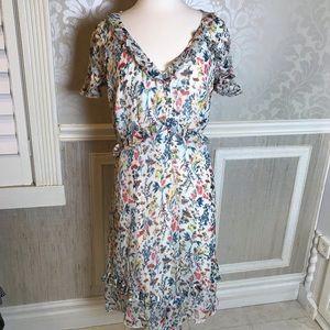 Jessica Simpson 2x floral ruffled romantic dress